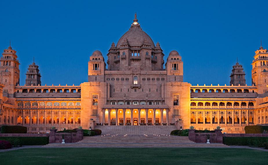 ウメイド・バワン・パレス Umaid Bhawan Palaceの外観