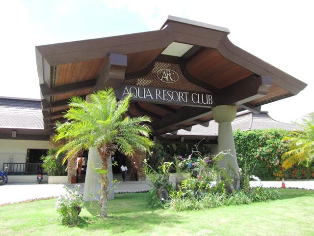 アクア・リゾート・クラブ・サイパン AQUA RESORT CLUB SAIPANの入り口