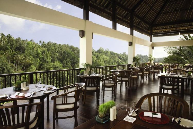 ウブド・ハンギング・ガーデンズ Hanging Gardens Ubudのレストラン