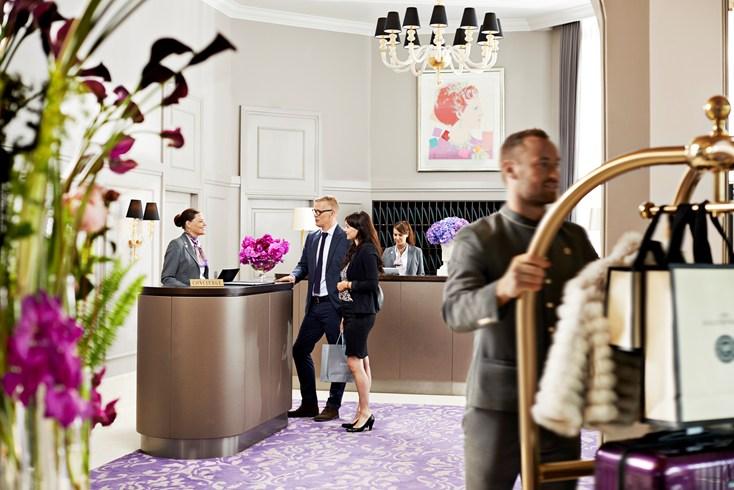 ホテル・ダングルテール Hotel D'Angleterreのロビー