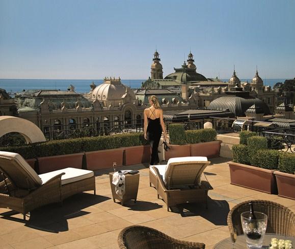 ホテル・メトロポール・モンテカルロ Hotel Metropole Monte-Carloのテラス