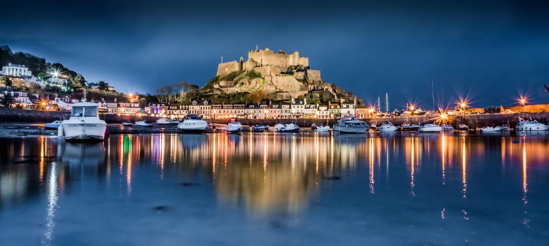 ジャージー島のMont-Orgueil-castle