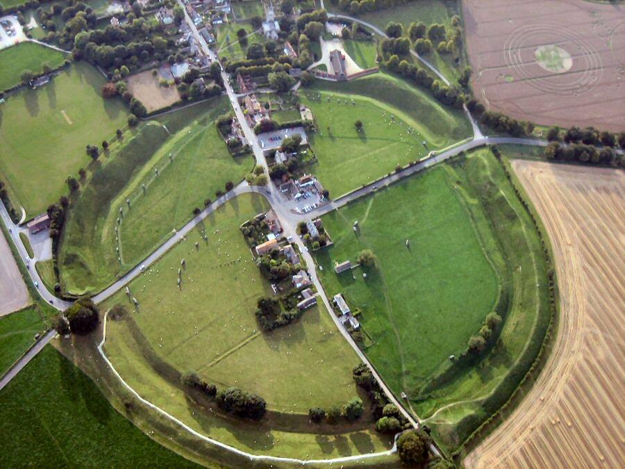 Aveburyの真上からの景色