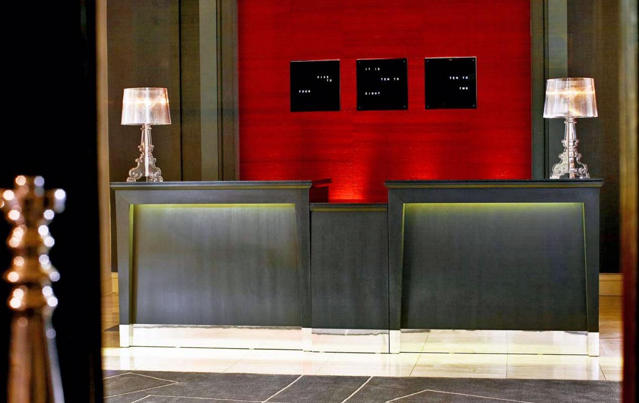 ルメリディアンピカデリーホテルのレセプション