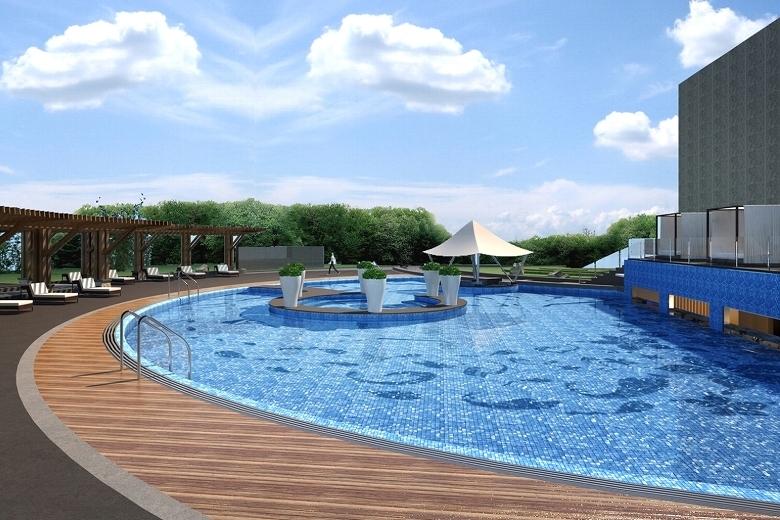 ホテル・ニッコー・広州 Hotel Nikko Guangzhou 広州日航酒店の屋外プール