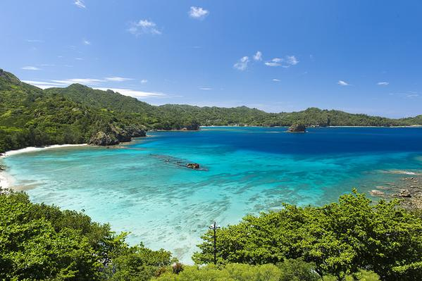 小笠原諸島の海辺