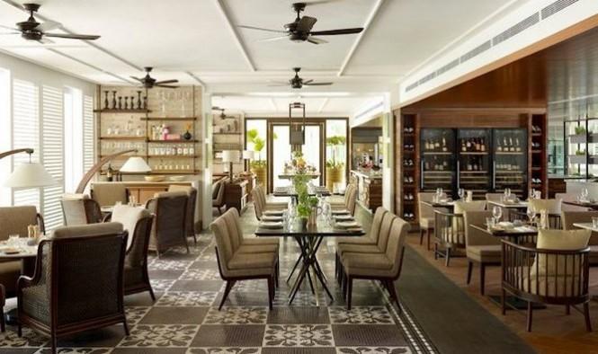 シャングリラ・ホテル・シンガポール Shangri-La Hotel Singaporeのウォーターフォール