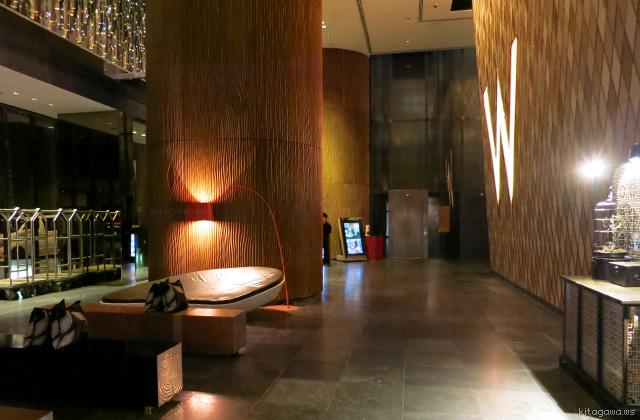 Wホテル香港のロビー