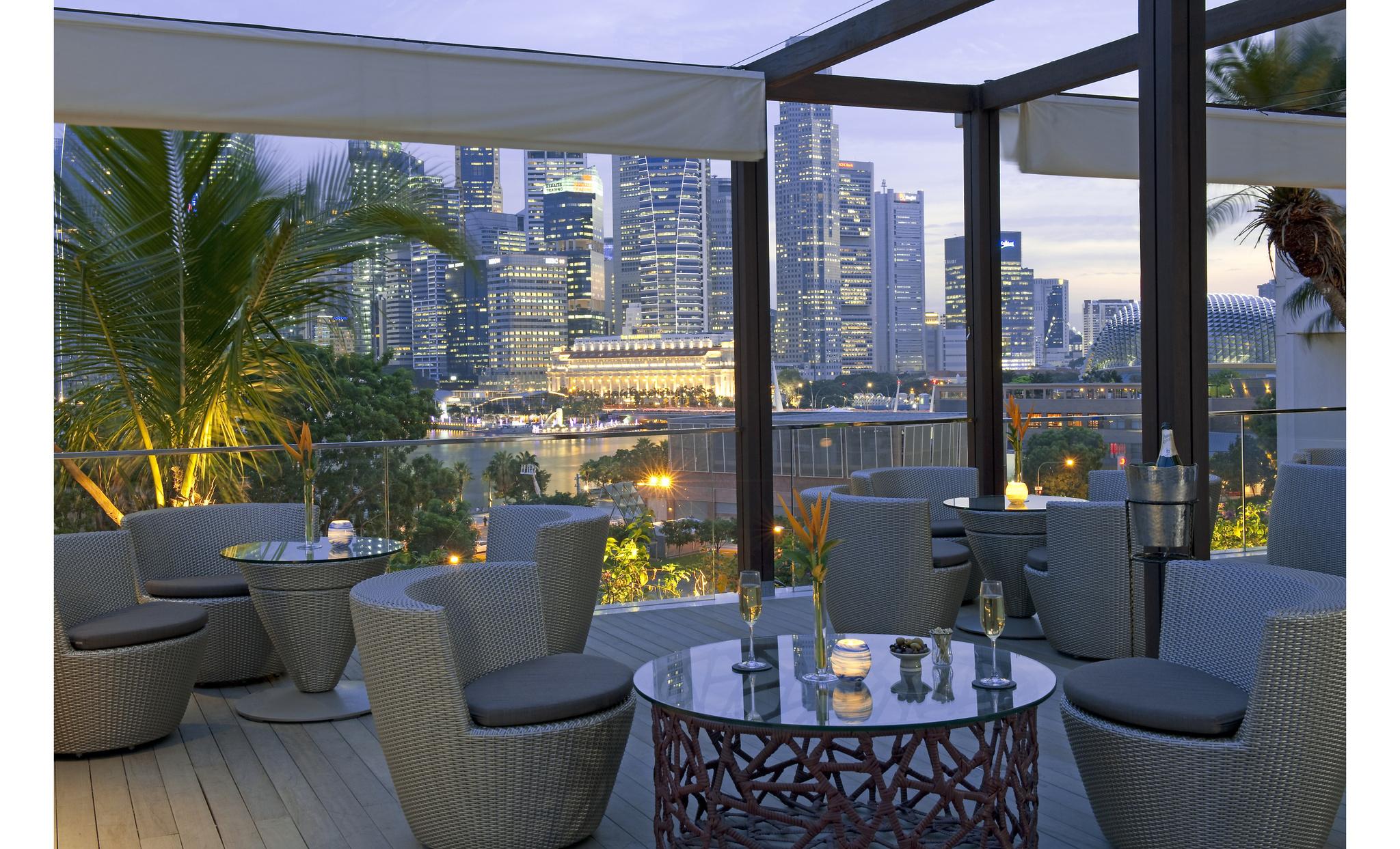 マンダリン・オリエンタル・シンガポール Mandarin Oriental SingaporeのBay@5バー