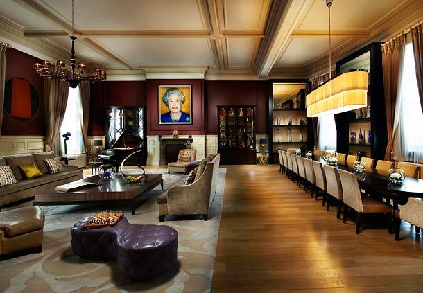セント・パンクラス・ルネッサンス・ロンドン・ホテルの客室リビングルーム