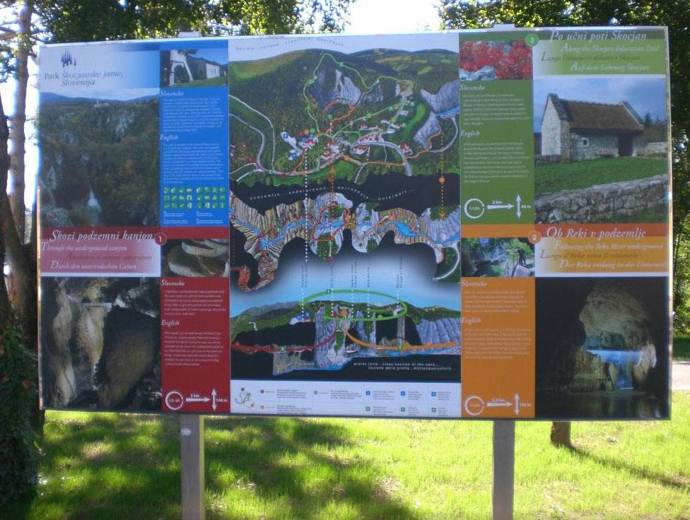 シュコツィアン洞窟群の案内図