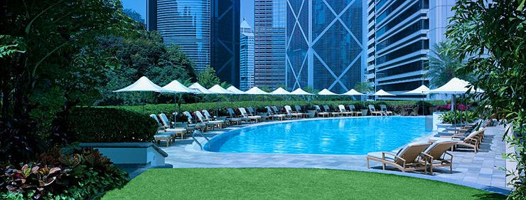 アイランド・シャングリ・ラ香港のプール