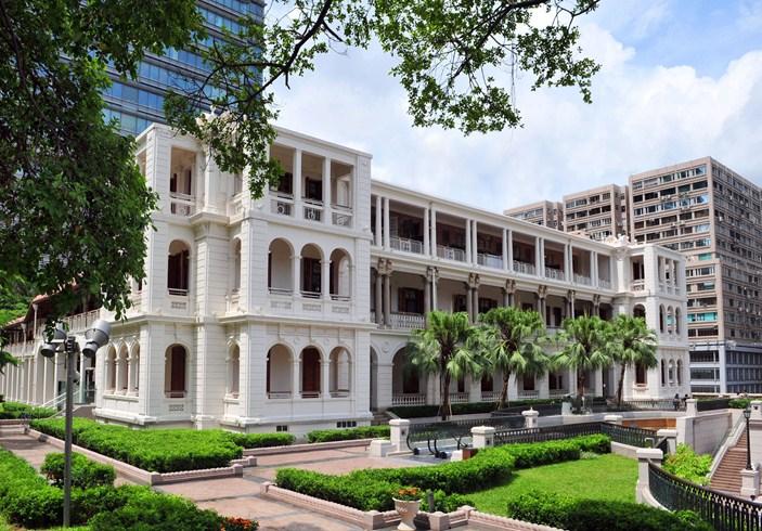 コロニアルな建物が特徴的な香港の「ハウス 1881」