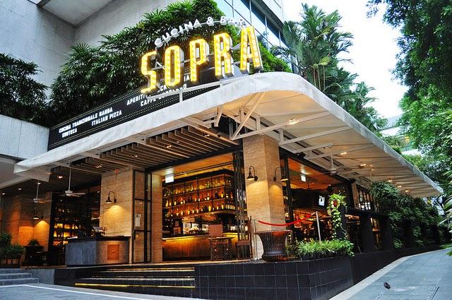パン・パシフィック・オーチャード Pan Pacific OrchardのSOPRA Cucina&Bar (ソプラ・クッチーナ&バー)