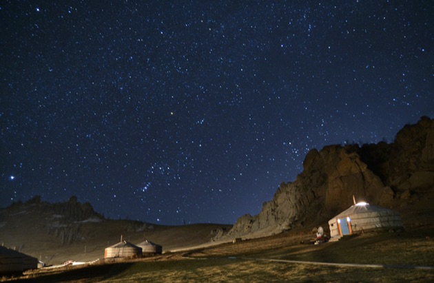 テレルジ国立公園の星空