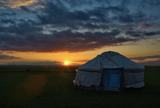 テレルジ国立公園の夕焼け