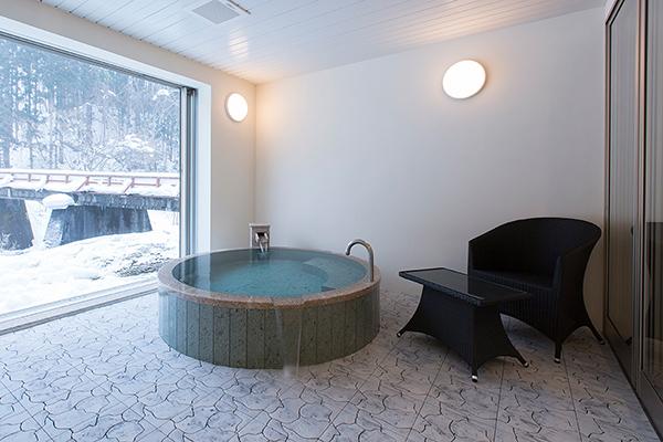鉛温泉 心の刻 十三月の客室のお風呂