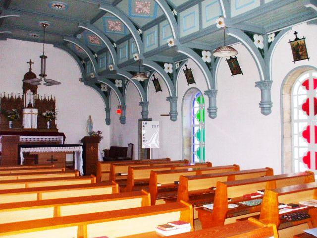 頭ヶ島教会の内部