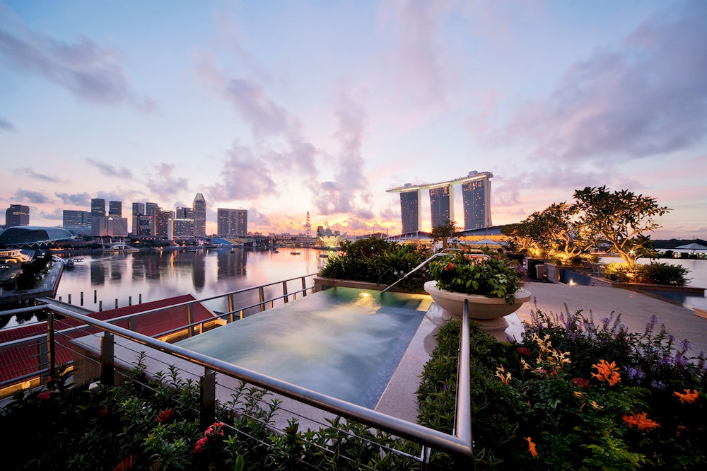 ザ・フラートン・ベイ・シンガポール The Fullerton Bay Hotel Singaporeのジャグジー