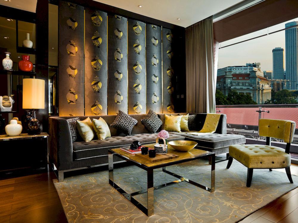 ザ・フラートン・ベイ・シンガポール The Fullerton Bay Hotel Singaporeの客室:スイートリビングルーム