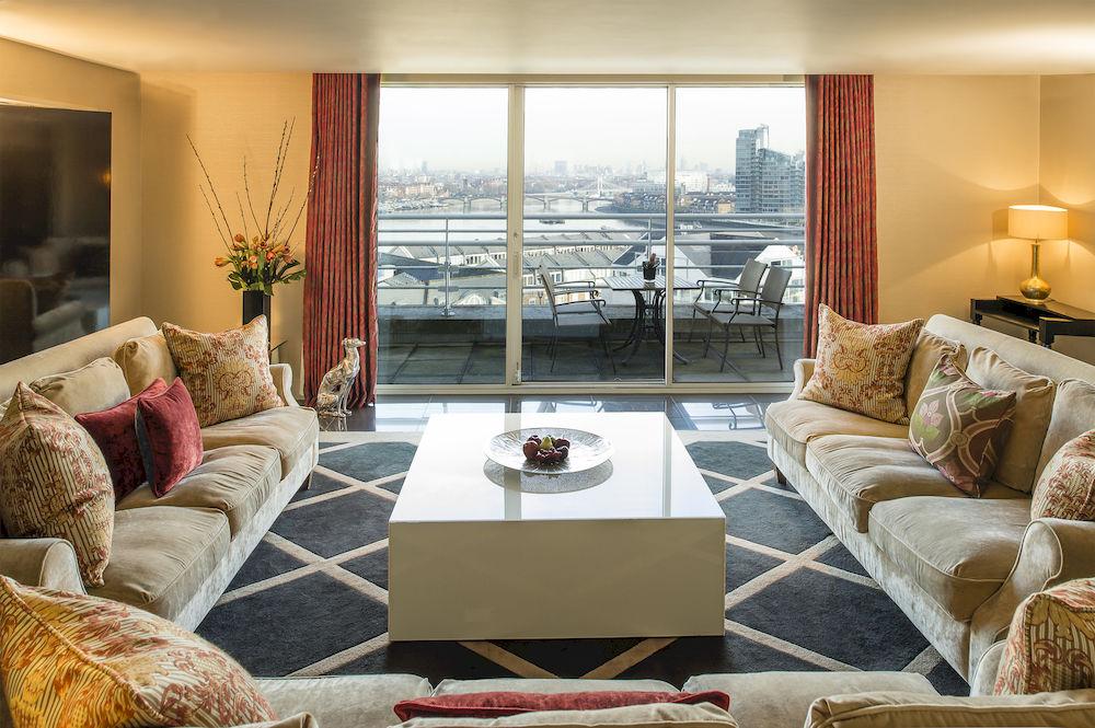 ザ・チェルシー・ハーバー・ホテルのthe-King's-Penthouse-Suiteのリビングルーム