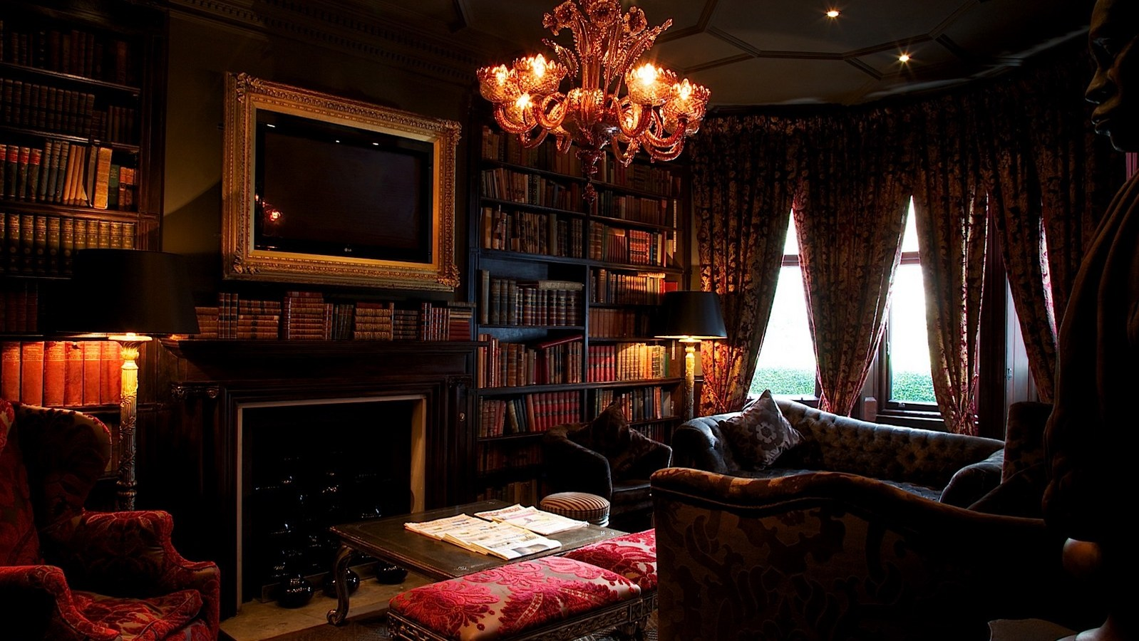 ナンバー11・カドガン・ガーデンズの図書室