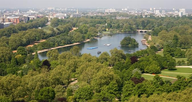 ロンドン・ヒルトン・オン・パークレーンからの景色