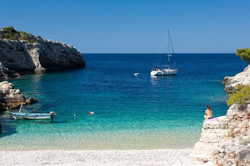 クロアチアのvis島