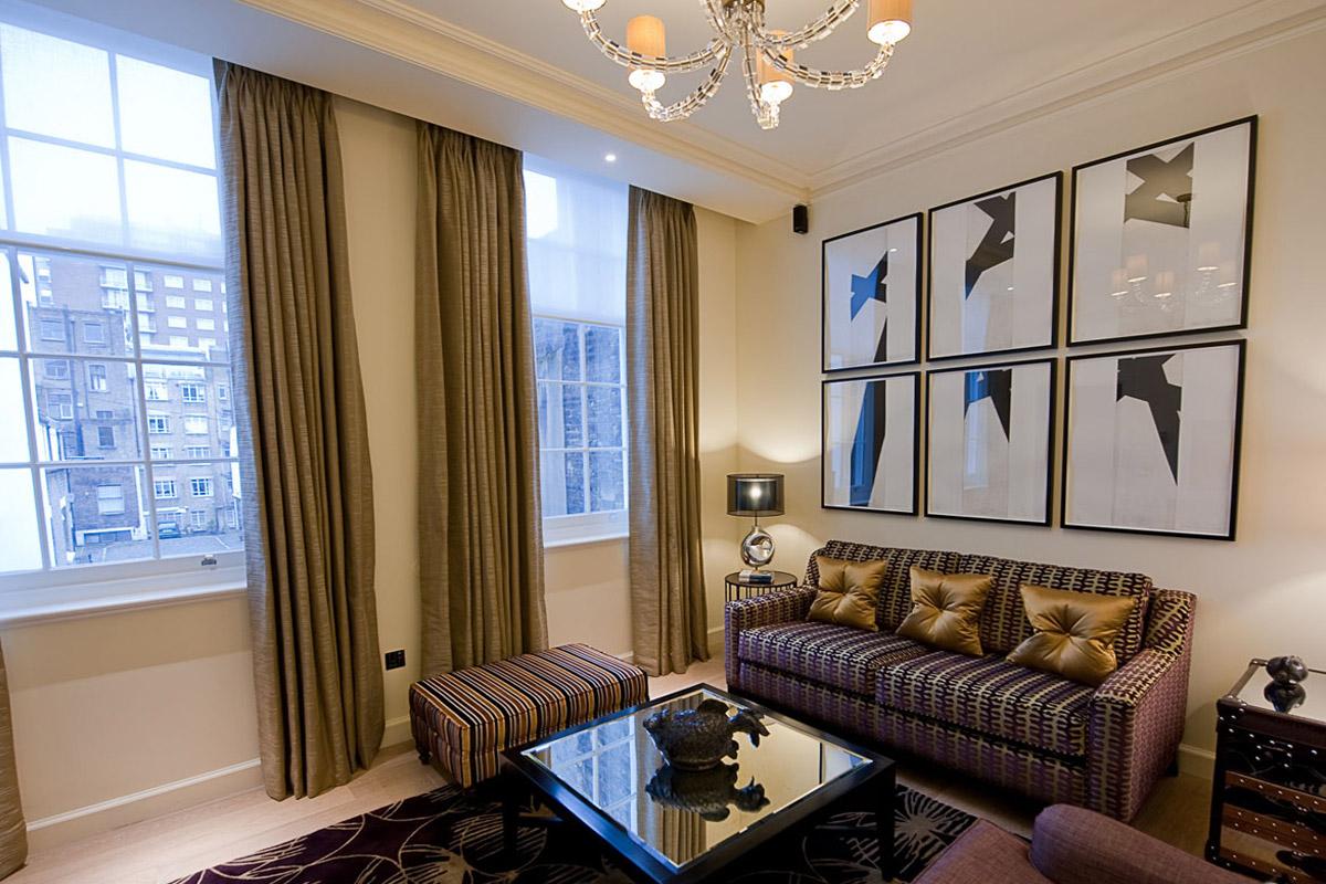 ザ・アーチ・ロンドンのChancery-Suiteのリビング