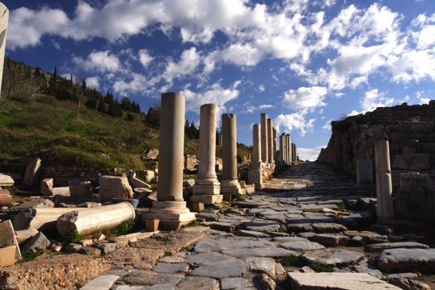 エフェス遺跡の通り