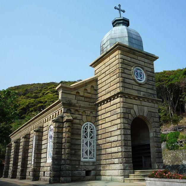 頭ヶ島教会の外観