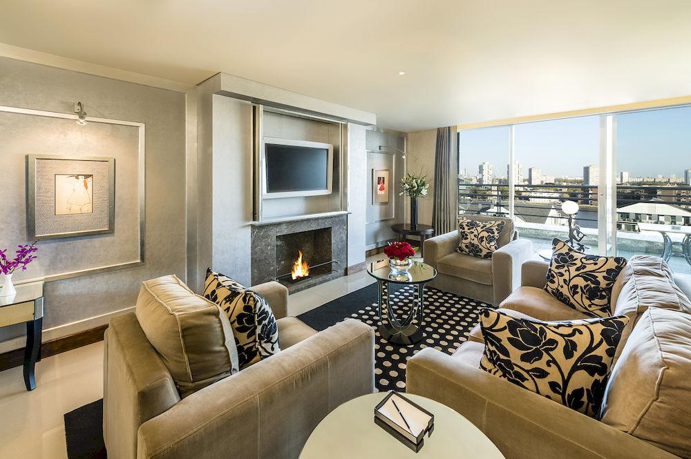 ザ・チェルシー・ハーバー・ホテルのThe-Abingdon-Penthouse-Suiteのリビングルーム