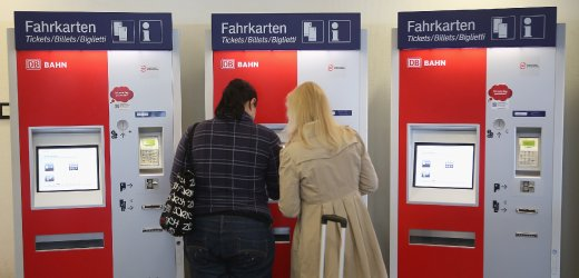 ドイツのチケット販売機