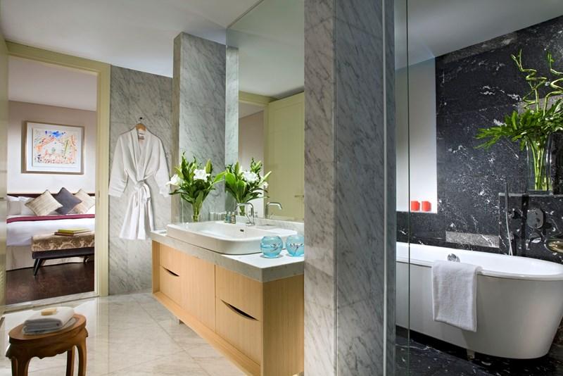 アスコット・ラッフルズ・プレイス・シンガポール Ascott Raffles Place Singaporeのルームタイプfinlayson suiteバスルーム