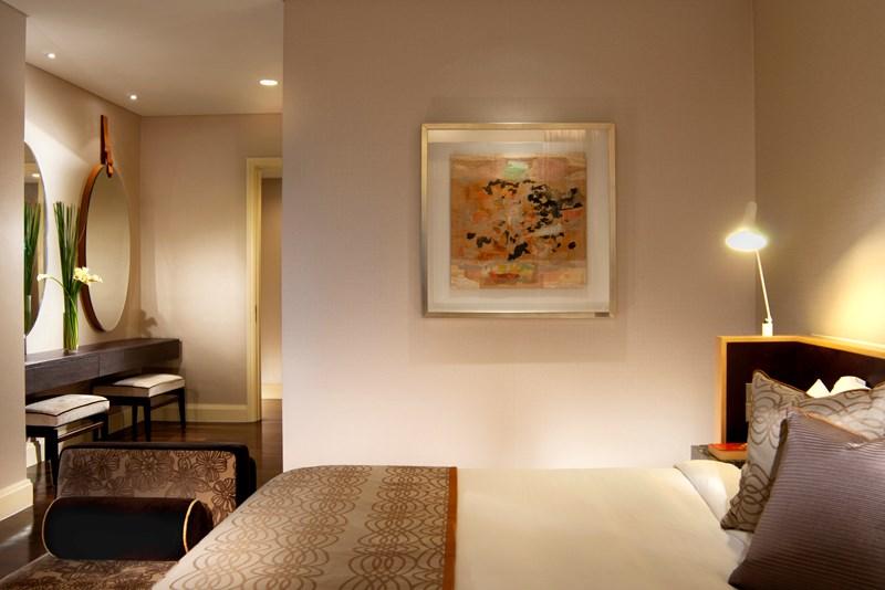 アスコット・ラッフルズ・プレイス・シンガポール Ascott Raffles Place Singaporeのルームタイプfinlayson suite寝室