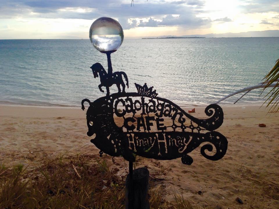カオハガン島のカフェHinay Hinay