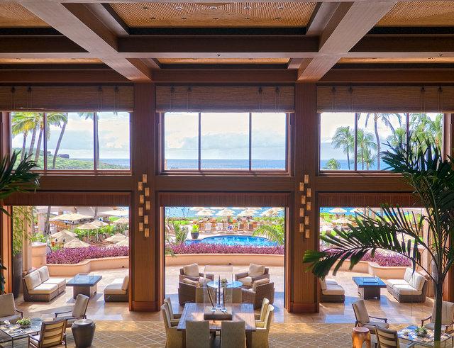 フォーシーズンズ・リゾート・ラナイ・アット・マネレ・ベイ Four Seasons Resort Hawaii, Lanai at Manele Bayのロビー