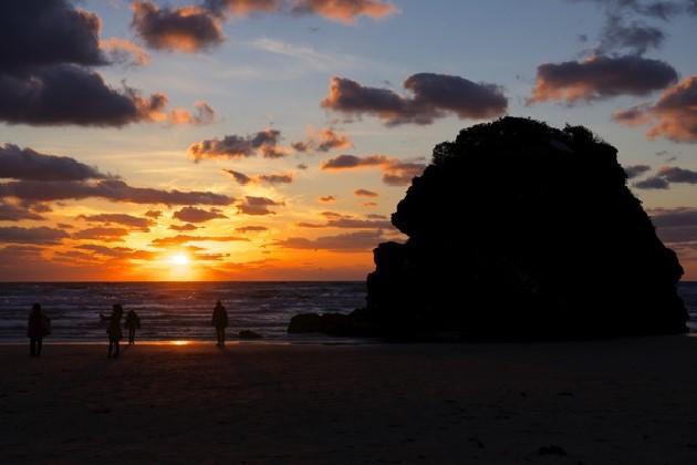 稲佐の浜夕日