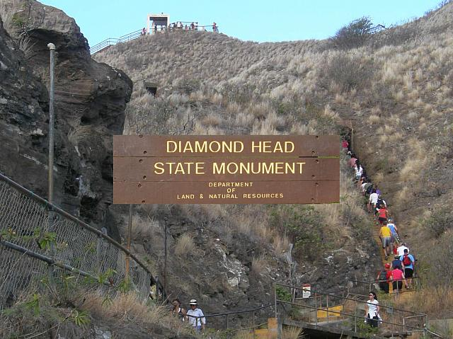 ダイヤモンドヘッド 山頂近く