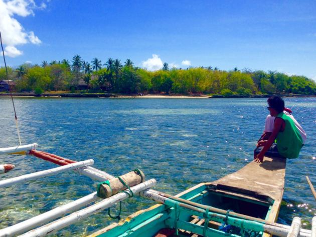 カオハガン島の送迎ボート