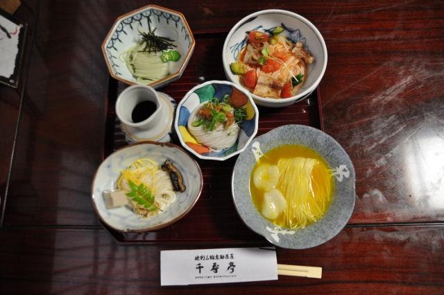 三輪素麺の会席料理