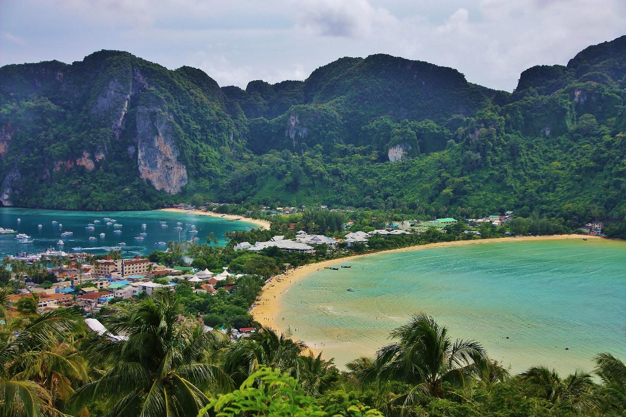 タイ ピピ・ドン島 展望台からの画像