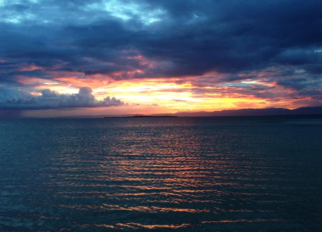 カオハガン島の夕日
