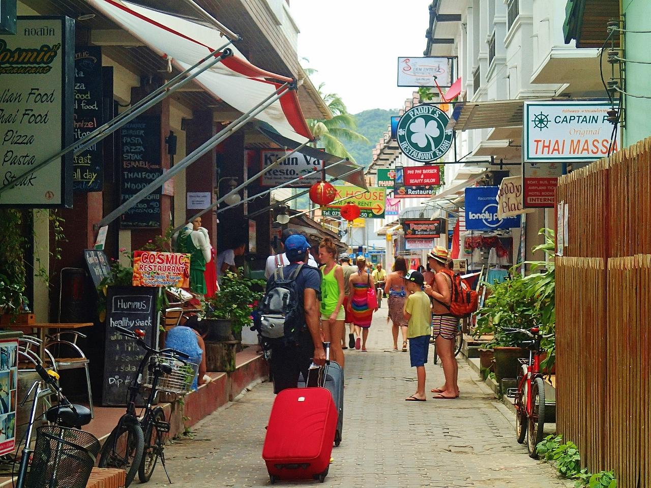 タイ ピピ・ドン島 トンサイ村の様子