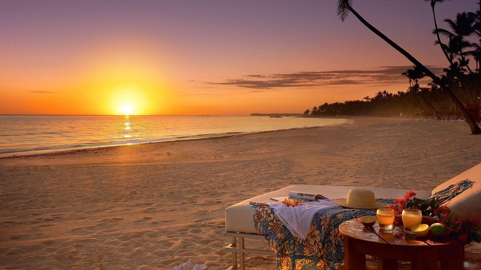 モルディヴの美しい夕日