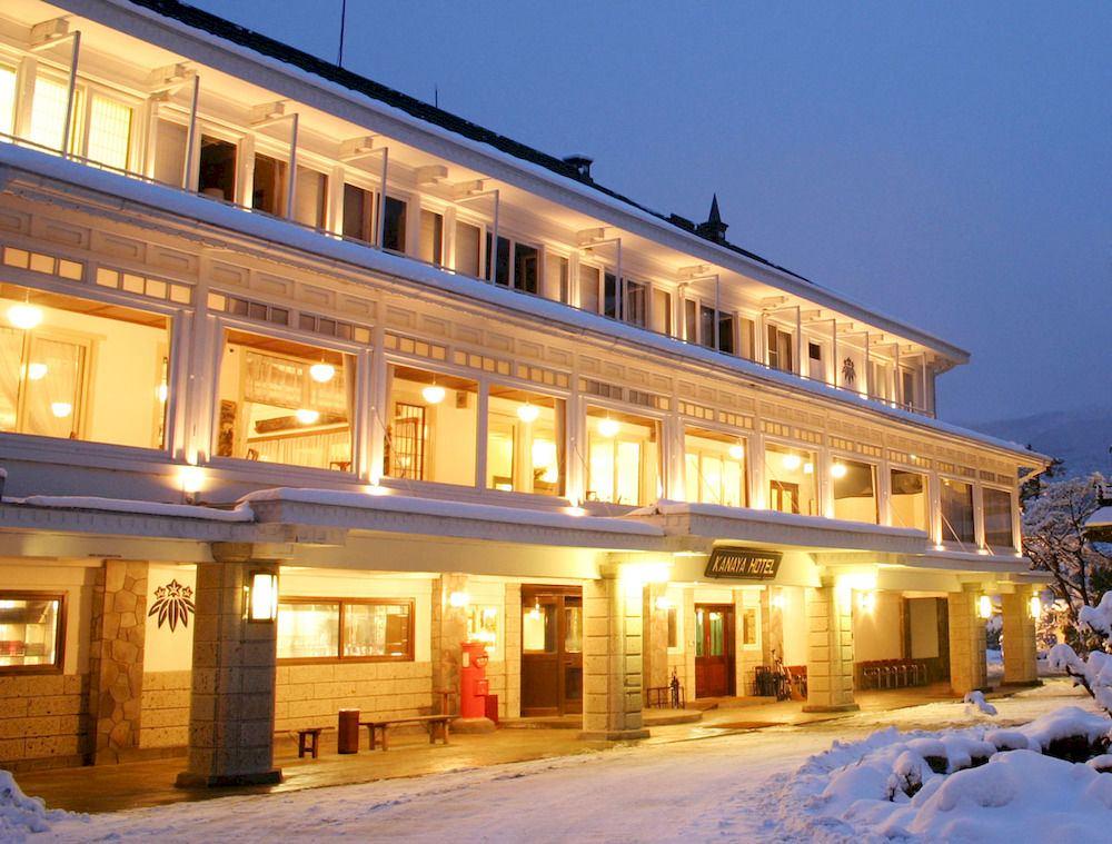 雪景色の日光金谷ホテル