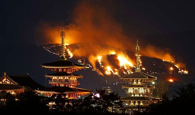 奈良 山焼き