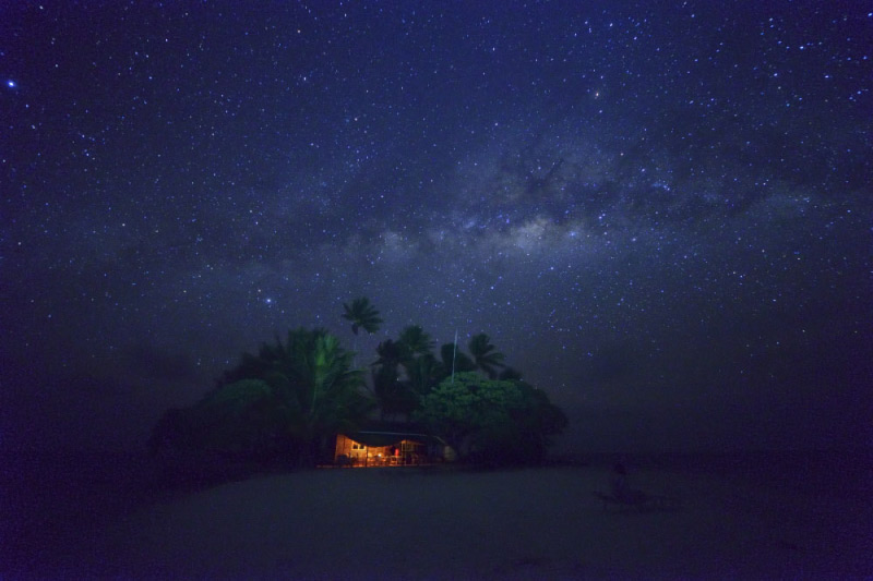ジープ島からの夜景