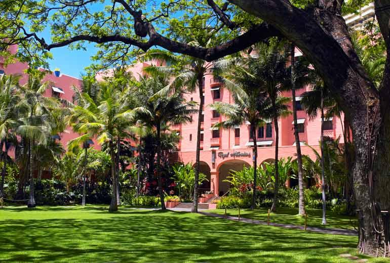 ザ・ロイヤル・ハワイアンの中庭