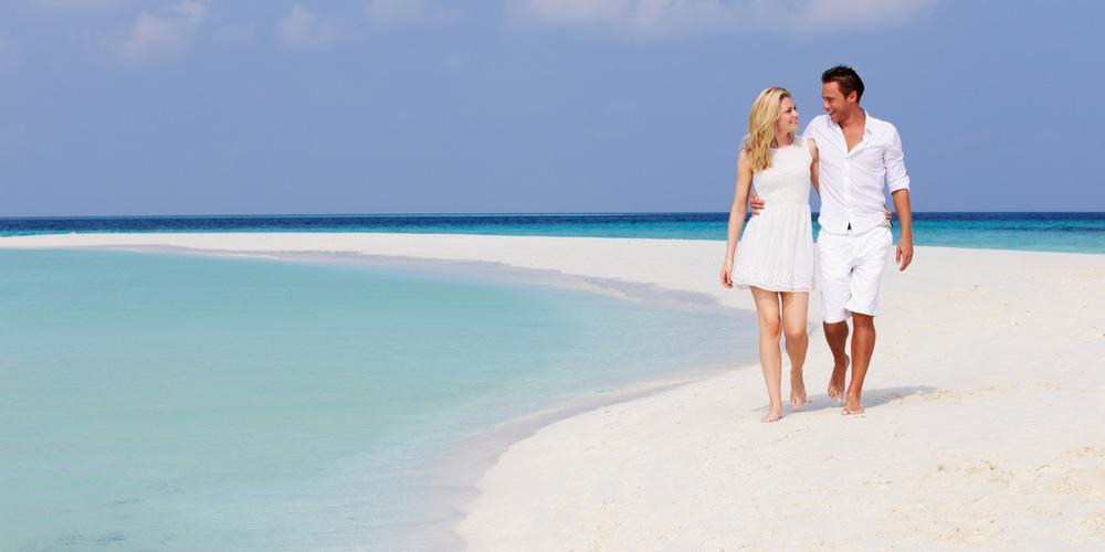 モルディヴの美しい砂浜